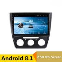10 2.5D IPS Android 8.1 Car DVD Multimedia Player GPS For MQB Skoda Yeti 2014 2015 2016 2017 audio car radio stereo navigation