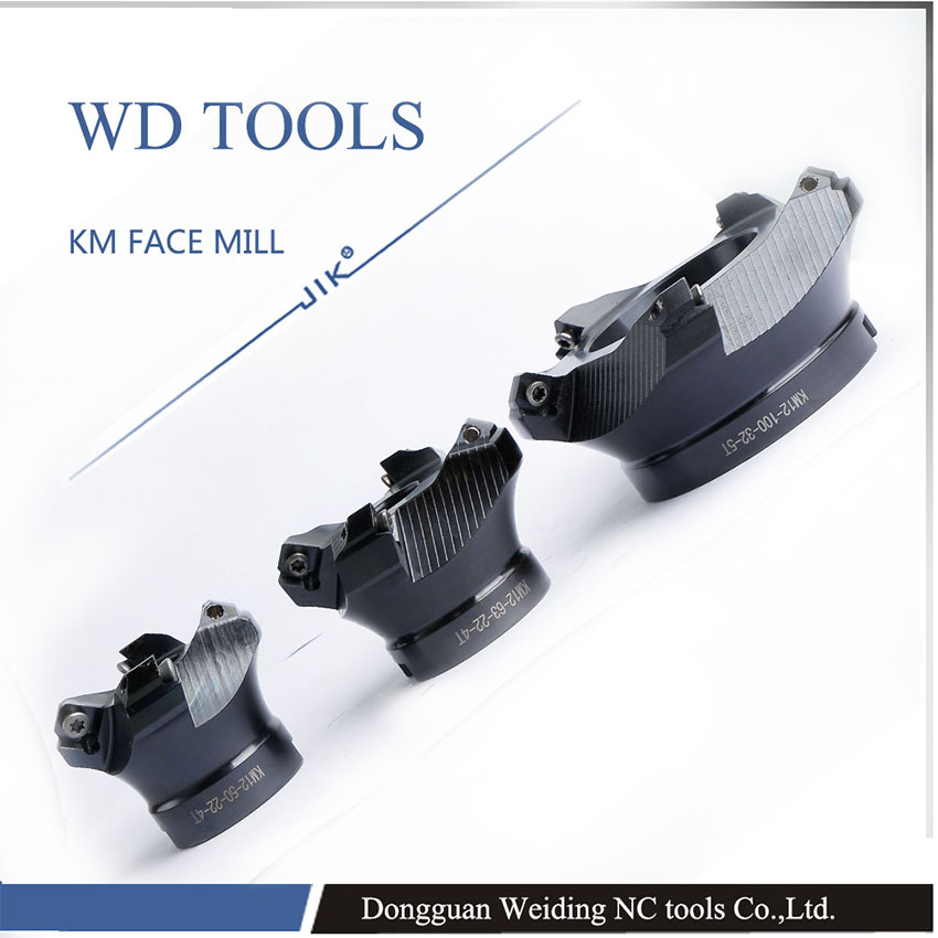 Free shipping KM12 80 27 6t face mill milling cutter cnc milling tools for inserts for