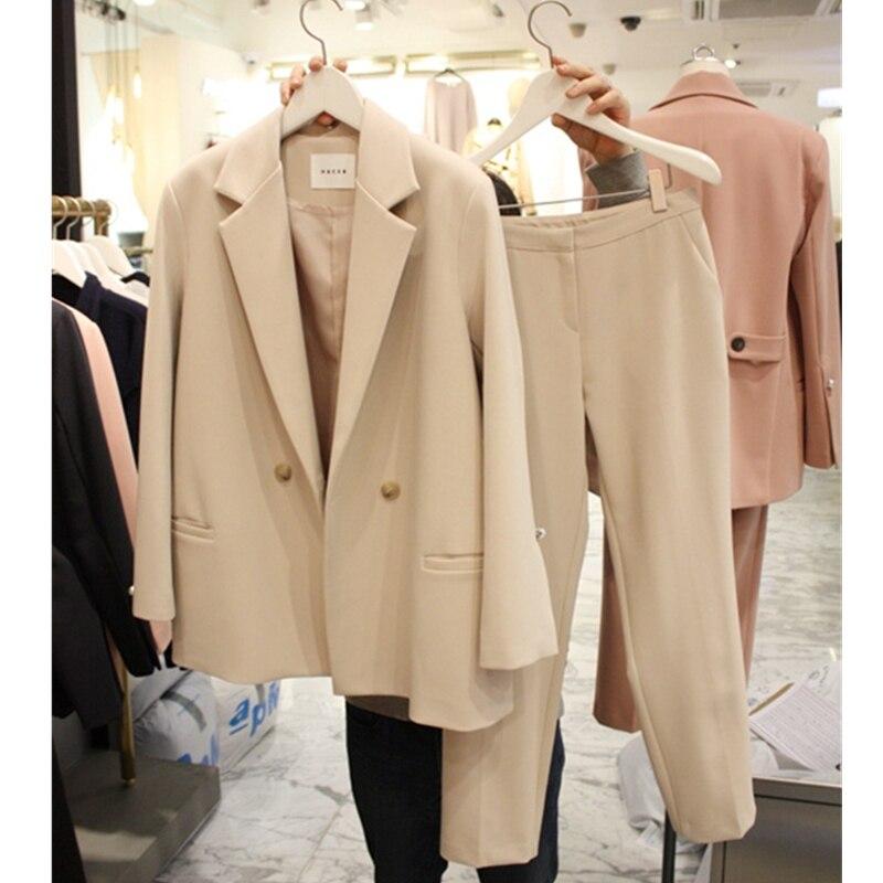 Et Mode Jambe Costume Large Deux 1 Était D'hiver Simple 2 Women'sautumn pièce Femelle Pantalon Nouveau Coréenne Occasionnel Version Mince 4qdWw