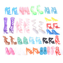 1Set High Heel Sandals for Barbie Shoes Cute Colorful Assorted Shoes for Barbie Doll Outfits Clothes Accessories Girls Toy(China)
