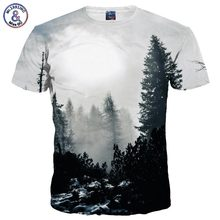 Mr.1991INC New Arrivals Men/Women 3d T-shirt Print Winter Forest Trees Quick Dry Summer Tops Tees Brand Tshirts