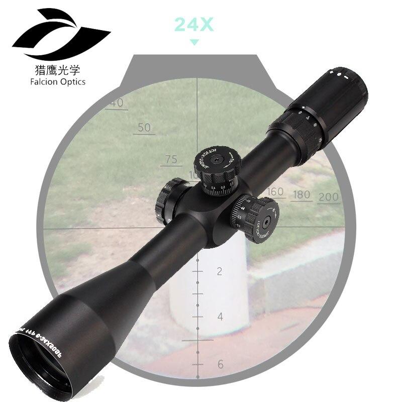 Portée de chasse tactique FFP 6-24X50 SF premier plan Focal portée latérale parallaxe verre gravé réticule verrouillage réinitialiser lunette optique