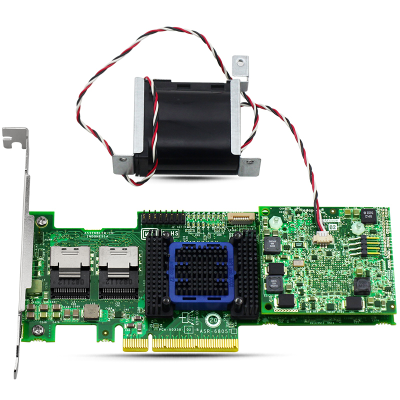 ASR-6805T 512MB RAID Controller Card 2272800-R 6Gbps SATA SAS 8-lane PCI-E Gen 2 375 3536 sas raid with battery array card pci e sas card 100% test good quality