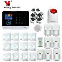 Yobang безопасности WI FI охранной сигнализации Системы приложение Управление 3G alarmes детектор дыма пожарной сигнализации животное иммунной изв