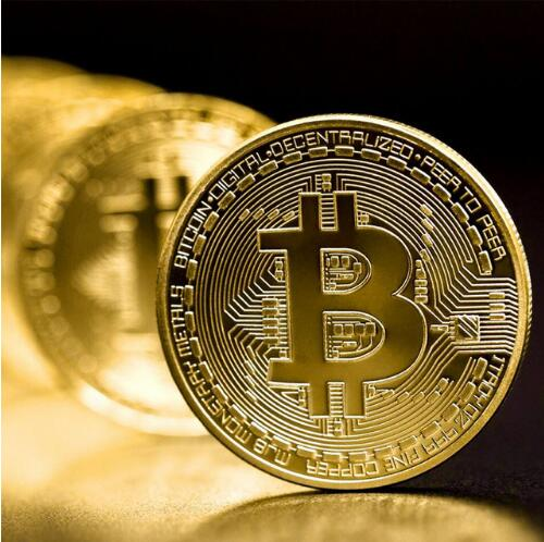 Bitcoin, Gold Plated Commemorative Cryptocurrency Coin USA