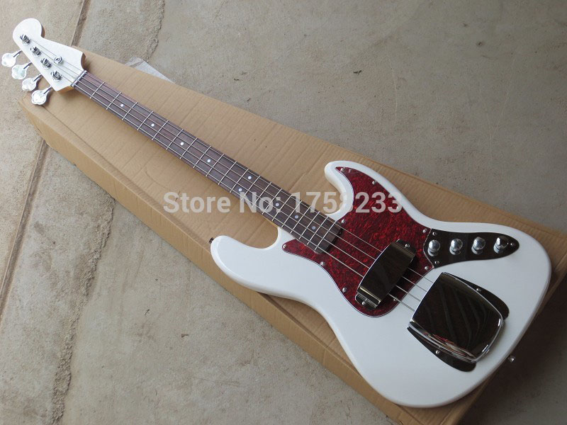 . Free Shipping 2017 New Arrival Custom Guitar JAZZ Bass Guitar 4 Strings natural Wood Bass Electric Guitar free shipping retail new electric bass guitar body in natural color foam box