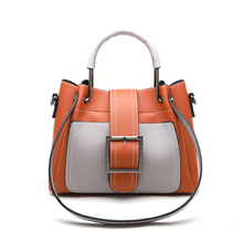 купить Bags for Women 2019 Fashion New Quality PU Leather Women bag Hit color Portable Shoulder Messenger Bag Travel Tote Crossbody bag по цене 1445.36 рублей