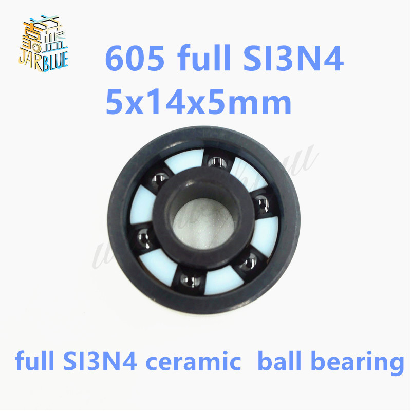 Free shipping 605 full SI3N4 ceramic deep groove ball bearing 5x14x5mm free shipping 605 full zro2 ceramic deep groove ball bearing 5x14x5mm good quality p5 abec5