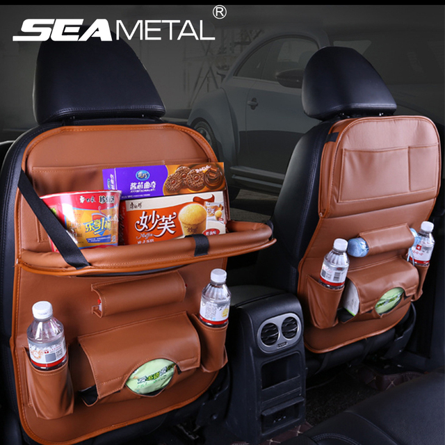 Car Floding Table Bag Organizer Back Seat Storage Phone Pad Holder Travel Stowing Tidying Boxes Pocket In Automobile Accessoires