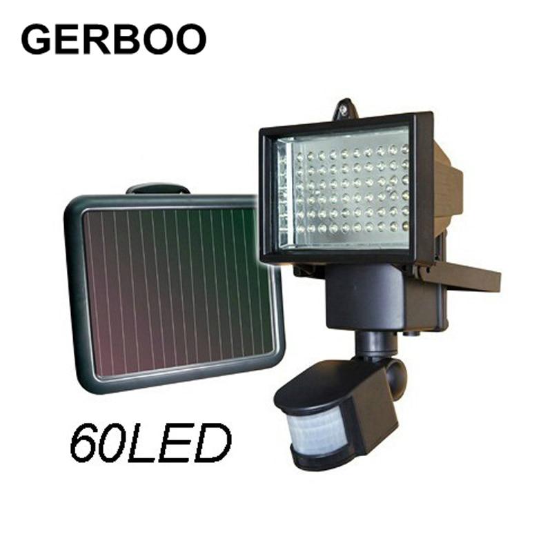 ФОТО hot Solar Panel LED Flood Security Solar Garden Light PIR Motion Sensor 60 LEDs Path Wall Lamps Outdoor Emergency Lamp
