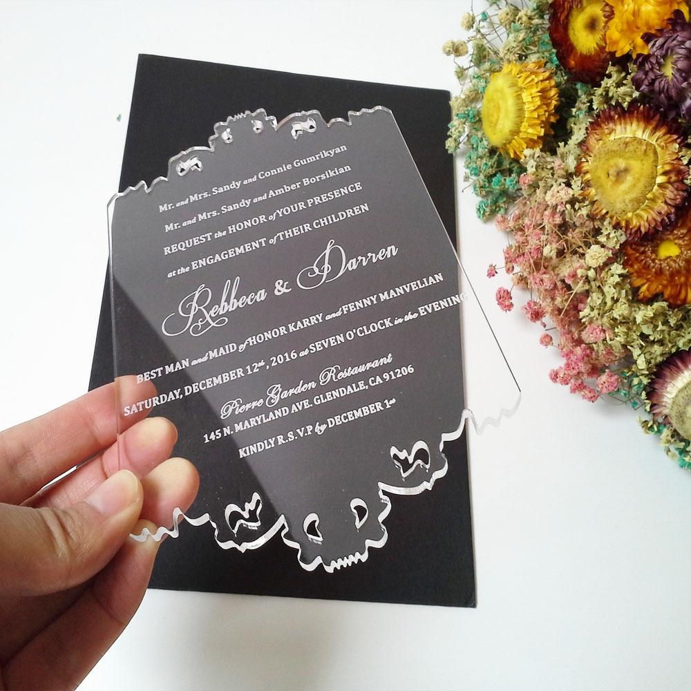 Tarjeta personalizada de invitación de boda de acrílico - Para fiestas y celebraciones - foto 5