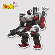 Bevle 9107 OW Shooting Game Bastion Fashion Stickers Geezer Notebook Waterproof Tide 3M Sticker Fridge Skateboard