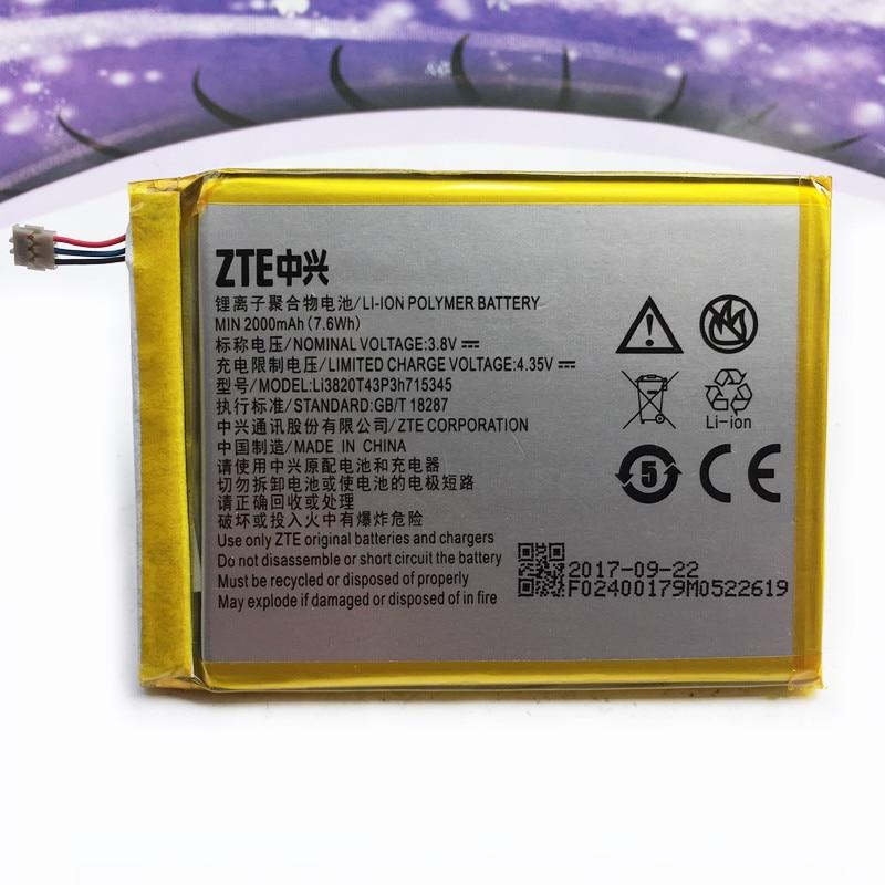 Original 2000 mAh LI3820T43P3h715345 batería para ZTE Grand S Flex/para ZTE MF910 MF910S MF910L MF920 MF920S MF920W + batería