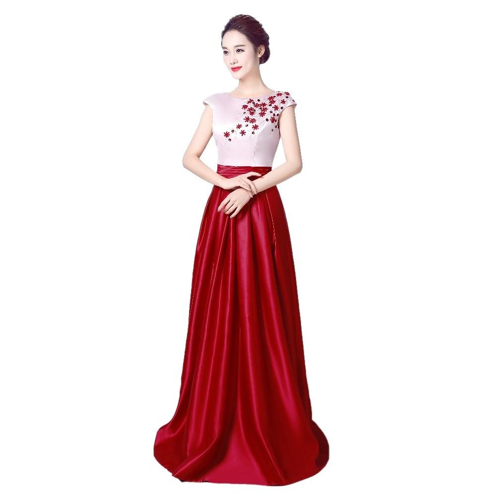 robe de soiree Κόκκινο κρασί Κρύσταλλο - Ειδικές φορέματα περίπτωσης - Φωτογραφία 4