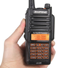 Baofeng Waterproof walkie talkie UV-9R  8W UHF/VHF range 5KM cb radio Dual Band Handheld UV9R Ham two way