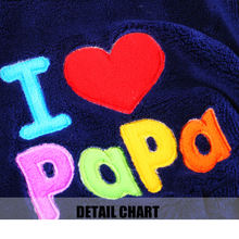 I love papa and mama winter Pet Dog jacket for small dogs