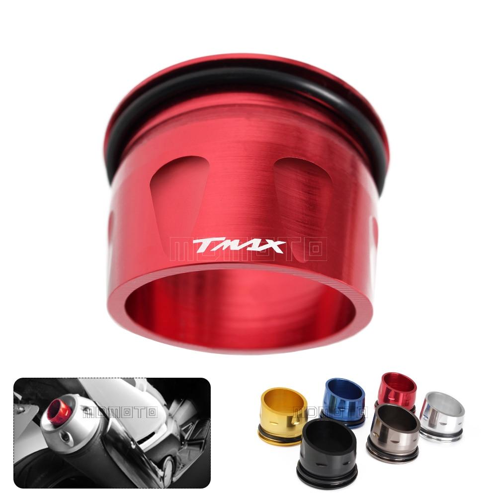 T MAX Custom CNC Aluminum Motorcycle Exhaust Tip Cover For Yamaha T-max 530 T MAX TMAX 530 TMAX 500 T-max500 2012-2017
