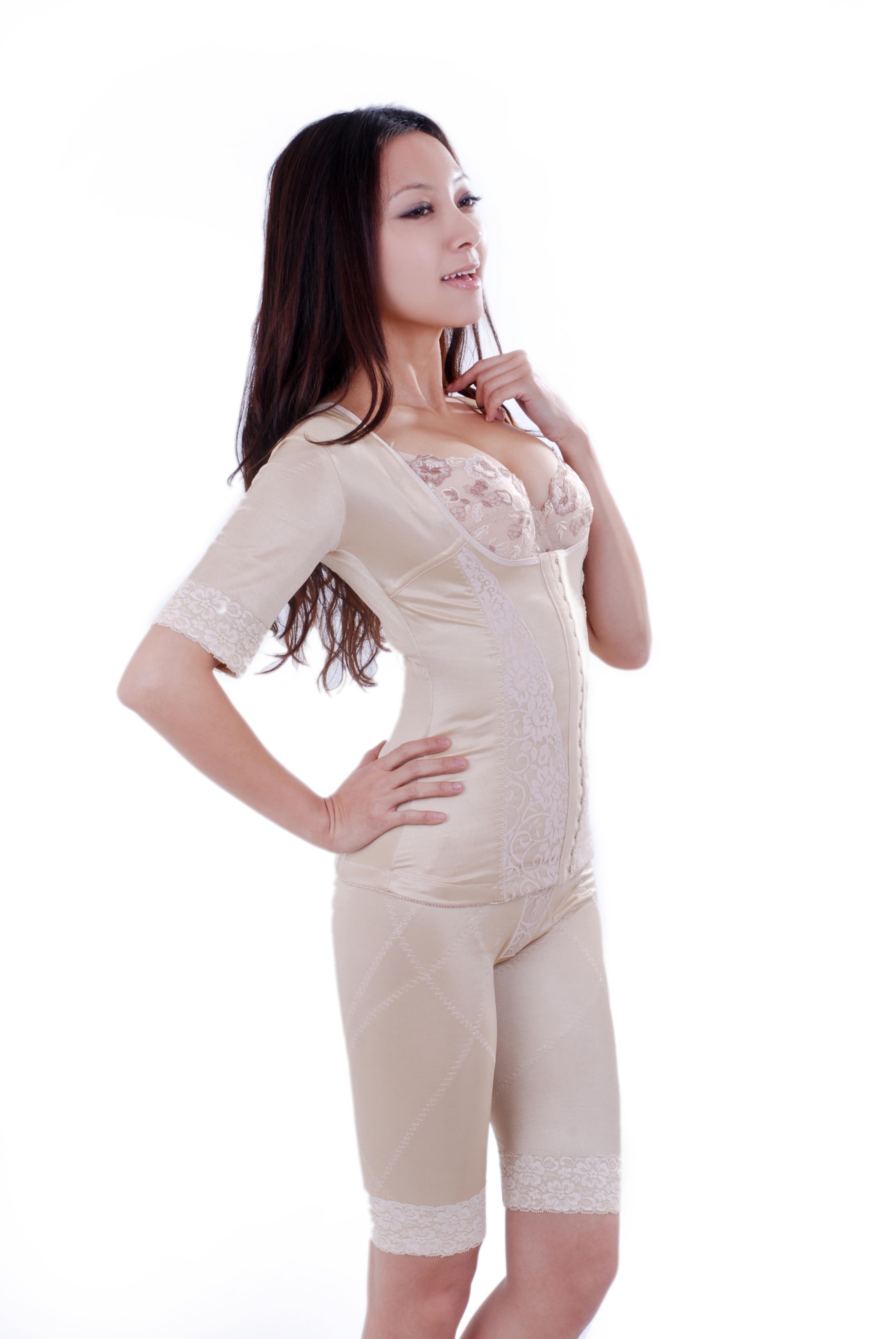 7eae33662448d Long Sleeved Full Body Shaper Magic Slimming Bodysuits Building Underwear  Ladies Shapewear Slimming Suits Pants Legs ...