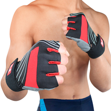 Kuangmi Half Finger Fitness Weight Lifting Gloves Training Exercise Gym Exercise Gloves Sports Training Hands Protecting Gloves