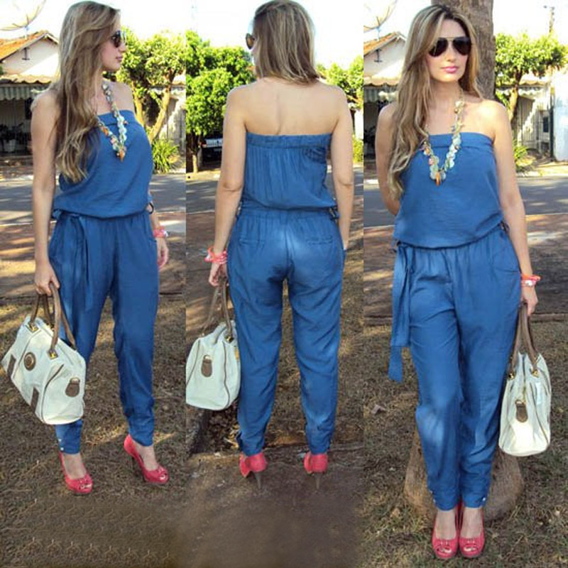 Popular Strapless Denim Romper-Buy Cheap Strapless Denim Romper ...