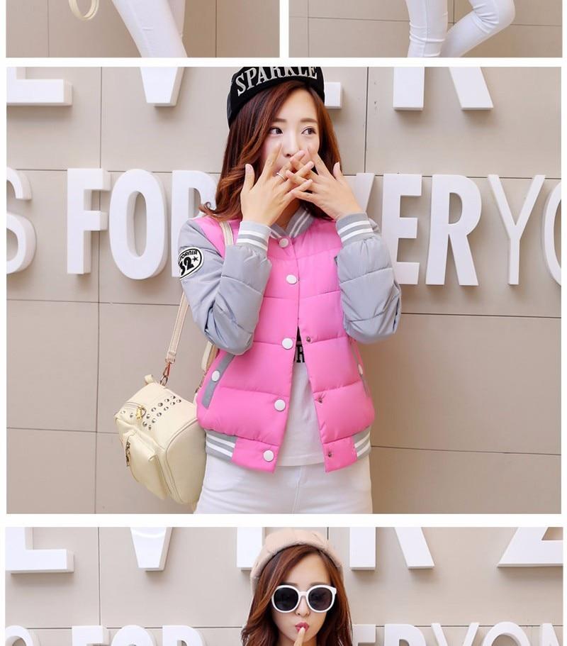 2016 Nowa kurtka zimowa kobiety Korea moda jednolite ciepłe