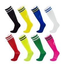 Купить с кэшбэком 1 Pair Adult Professional Breathable Soccer Football Sock Stockings Long Leg Warmers Thickened Cotton Winter Sports Socks E
