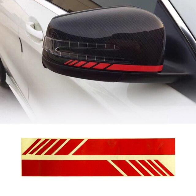 Pair Reflective Rear View Mirror Stripe Decal Sticker Vinyl For Benz W204 W212 W117 W176 Edition 1 For AMG Decoration