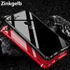 For OnePlus 5T Case Cover Luxury Hard Metal Aluminum Frame Plastic Back Cover Armor Protective Phone