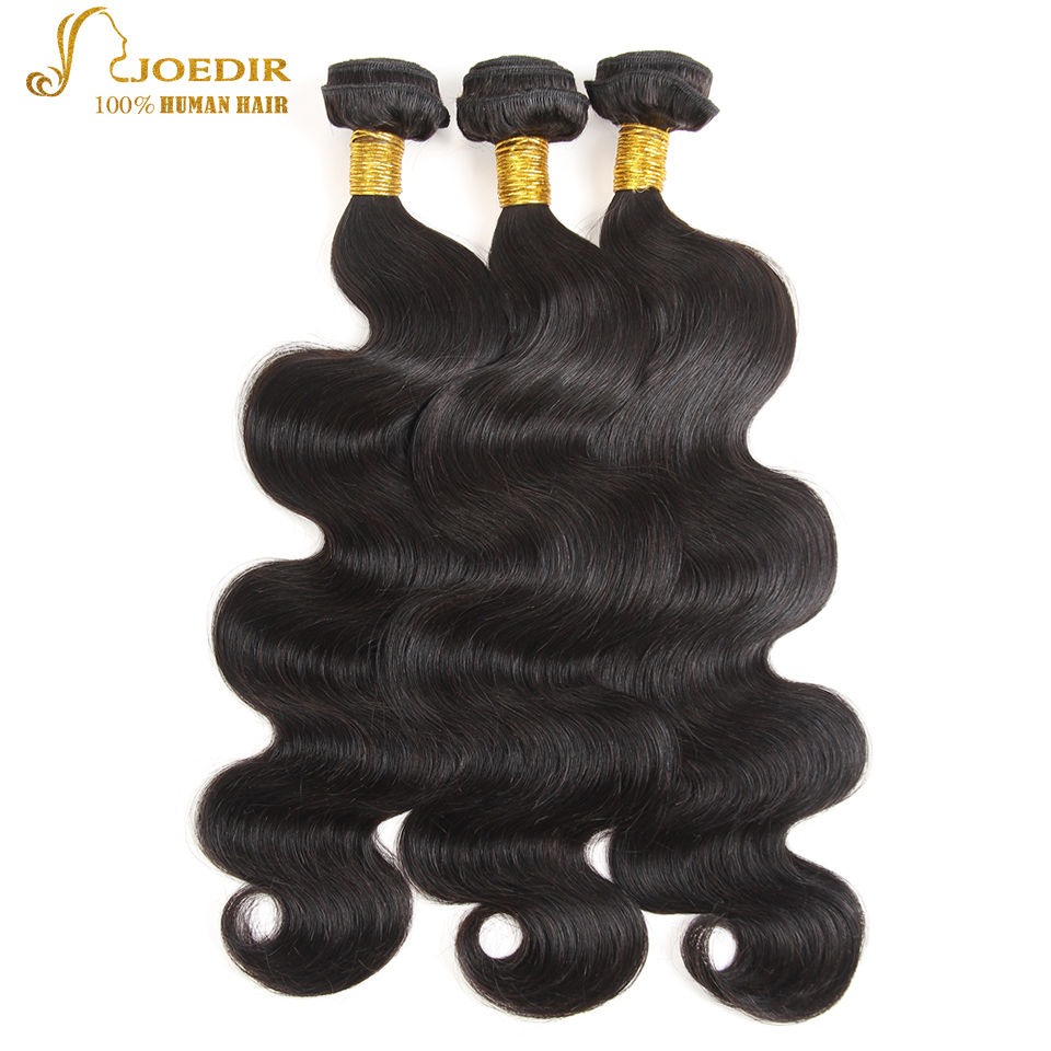Joedir Indian Wavy Hair Bundles Human Hair Weave Extensions 8-26 inch Human Hair Bundles Natural Black Cheap Wave Bundles