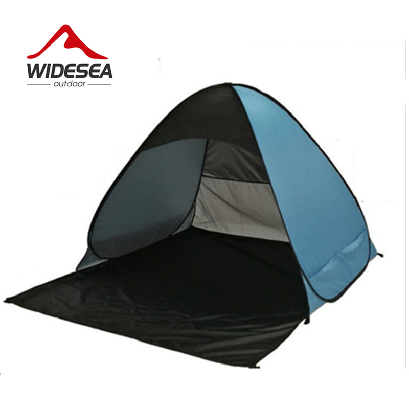 Widesea pop up open beach tent 2-3 person sunshelter mash up color UV-protect quick automotic open for outdoor fishing camping outdoor summer tent gazebo beach tent sun shelter uv protect fully automatic quick open pop up awning fishing tent big size