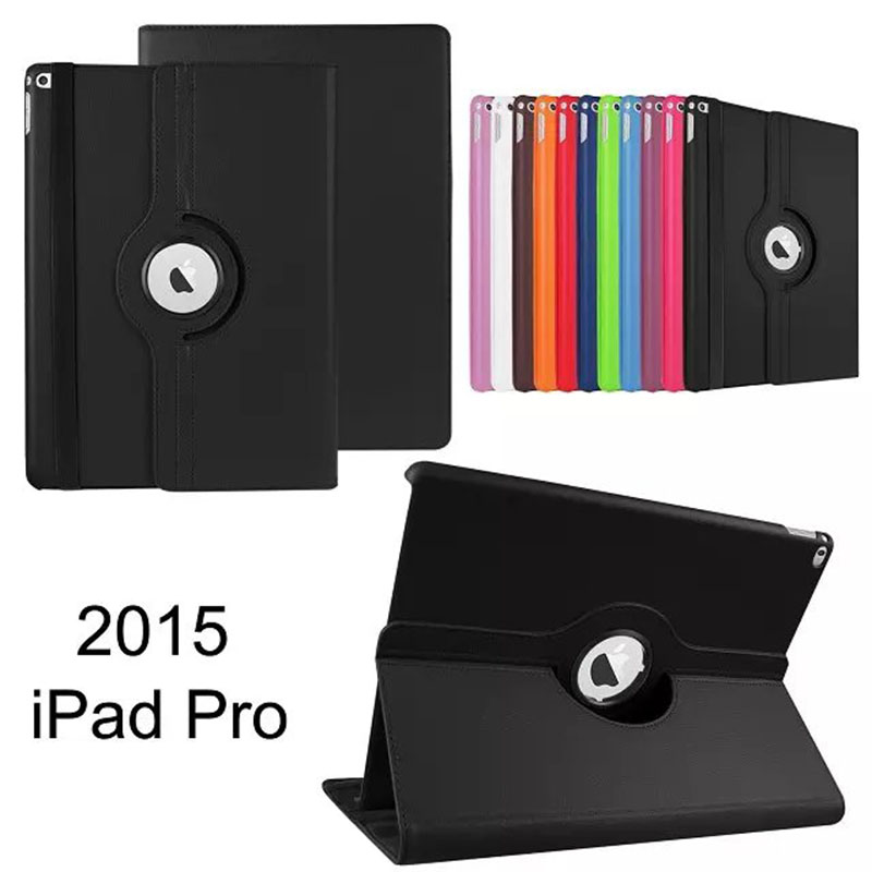 For Apple iPad Pro 12.9 2016Cover Case 360 Rotating Smart Cover for iPad PU Leather Protect Fundas w/Screen Protector+Stylus Pen