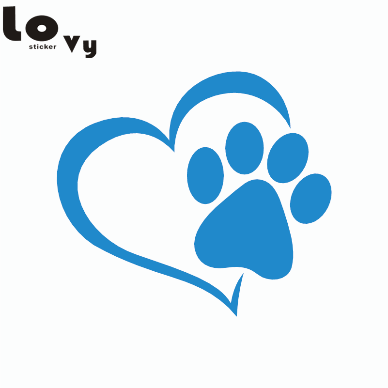 2pcs Cute Dog Paw with Car Peach Heart Car Sticker Cartoon Animal - Aksesorë të jashtëm të makinave - Foto 4
