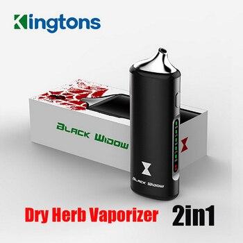 Przenośny suchy parownik szisza czarna wdowa 2200mAh parownik do suchych ziół elektroniczne parowniki 2w1 Vapor Max Herb Pen