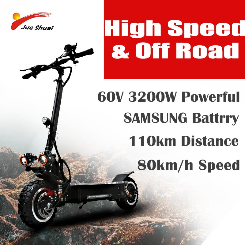 11 pouces hors route Scooter électrique adulte 60 V 3200 W fort puissant nouveau pliable vélo électrique pli hoverboad vélo scooters