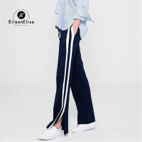 Casual Pants Woman 2018 Summer Long Trousers Elastic Waist Pant Black Pants For Woman