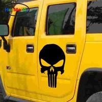 HotMeiNi 44 cm x 30 cm Clásico de terror Cráneo Punisher Coche Pegatina Para Coches Camiones Lado Ventana auto de La Puerta de Vinilo calcomanía De Pascua de Halloween