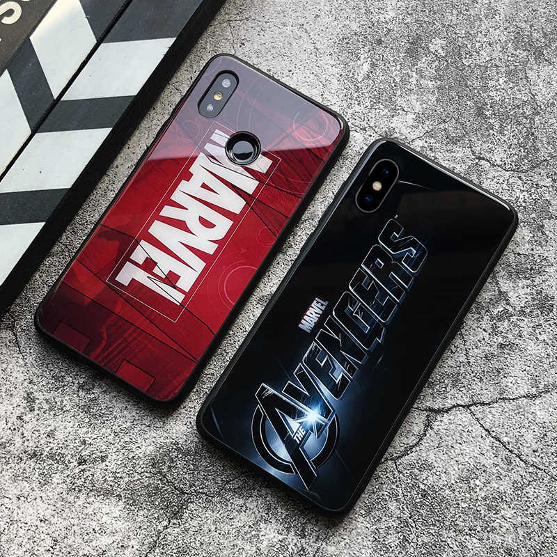 Para iphone 7 8 6 6 s funda para iphone 7plus X XR XS max 7 8 6 s Plus funda para iphone 5 y 5s se caso de Marvel Hombre de Hierro caso