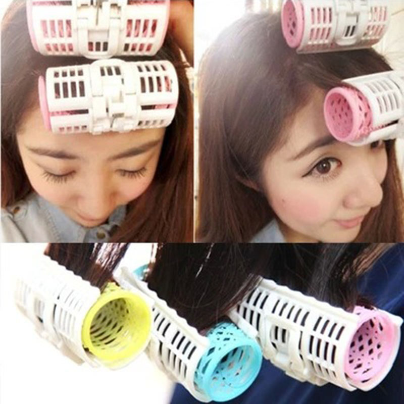 3pcs Hairdressing Home Use DIY Magic Large Self-Adhesive Hair Rollers Styling Roller Roll Curler Hair Tool Color Random