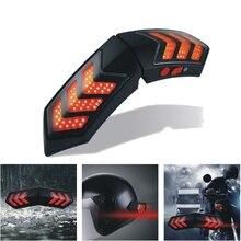 В 12 в беспроводной умный мотоциклетный шлем огни ж/usb зарядка шлем тормоза сигнальные лампы водостойкий АБС PP материал универсальный