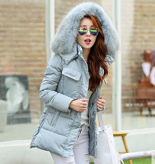 Winter New Down Jackets Women Warm Slim Long Section Thicker Nagymaros Collar Solid Color Female Down Coat Plus Size 2XL C512