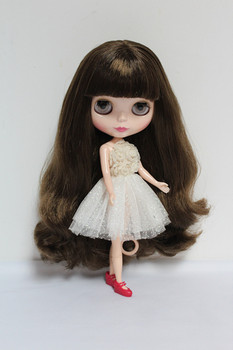 Blygirl Blyth doll Dark brown bloody hair No.7301 normal body 7 joints 1/6 body DIY dolls supple for their makeup