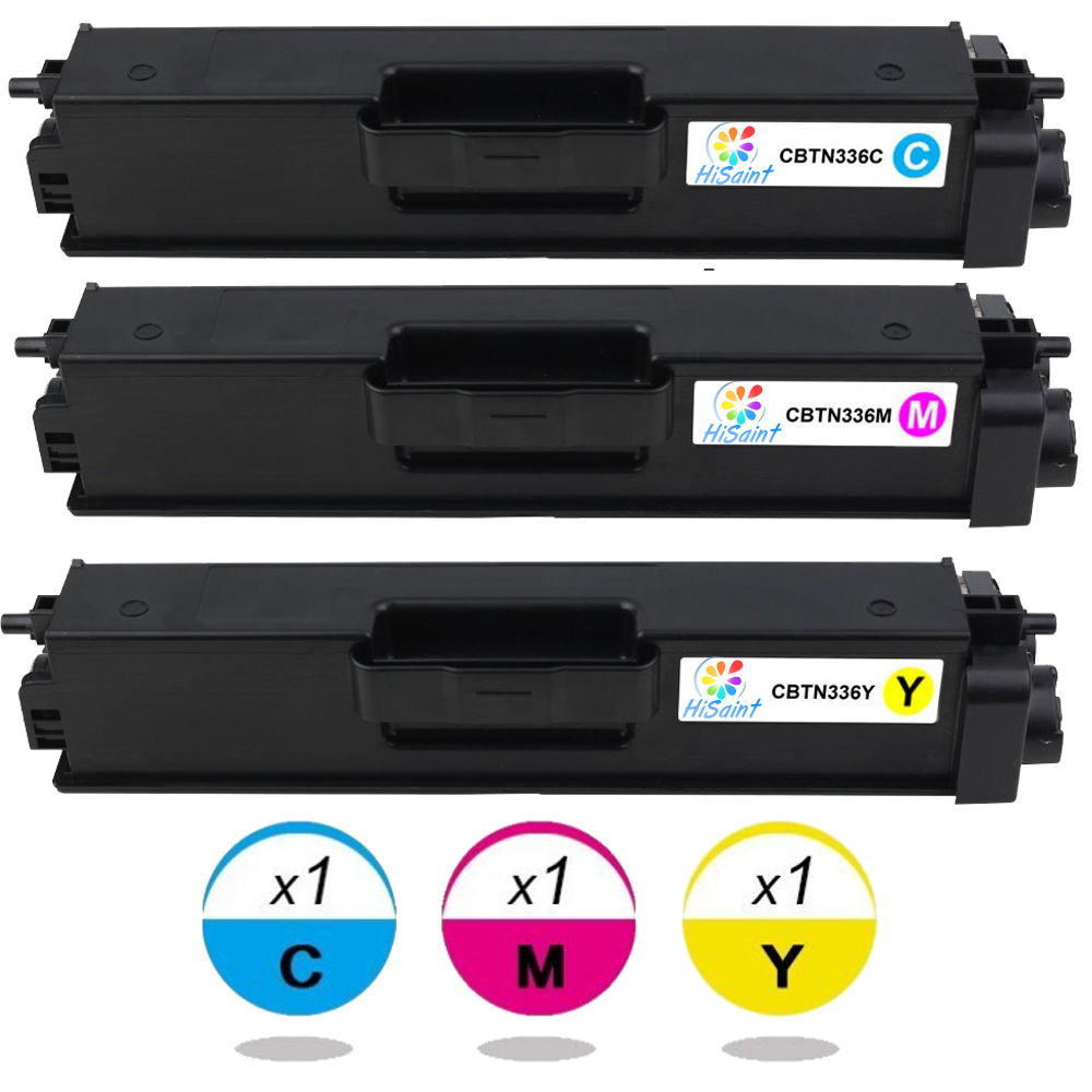 Подробнее о Toner Cartridge Replacement for Brother TN336C TN336M TN336Y For Printer MFC-L8850CDW HL-L8350CDW (Cyan, Magenta, Yellow, 3-Pk) 4 pack high quality toner cartridge for brother tn150 tn 150 full for brother hl 4040cn hl 4050cdn mfc 9450cdn printer