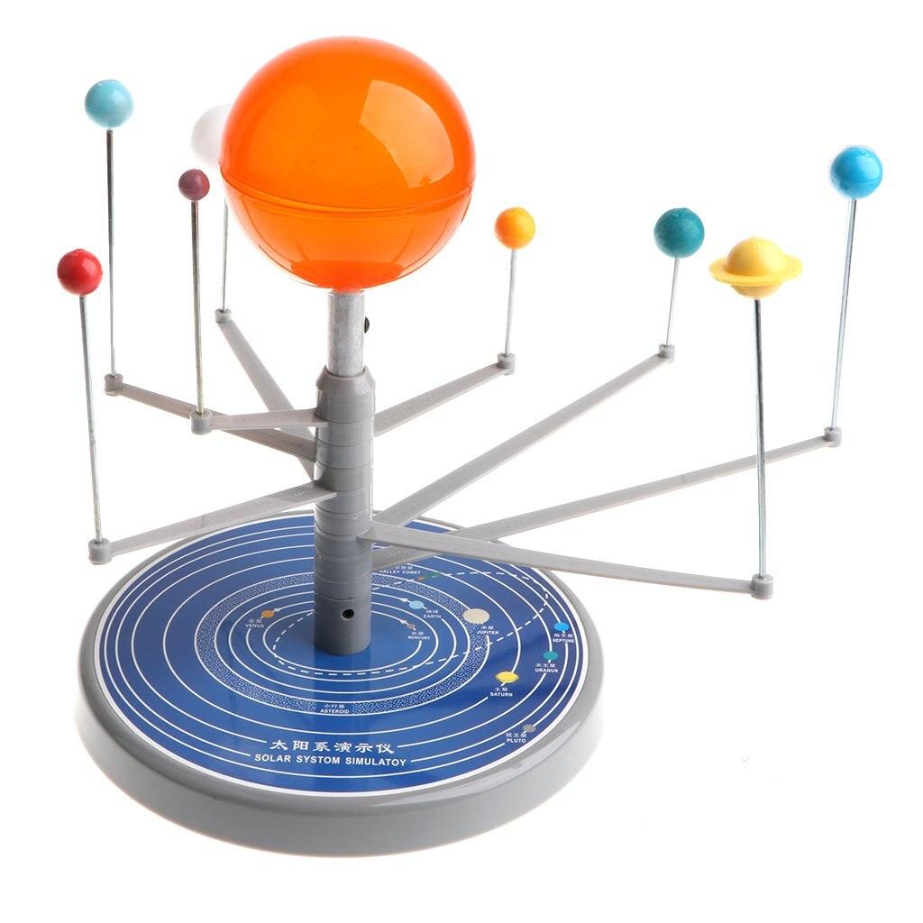 Système solaire Sun Planet modèle à collectionner amusant jeu Science apprentissage jouets éducatifs cadeau d'anniversaire pour enfants en bas âge enfants