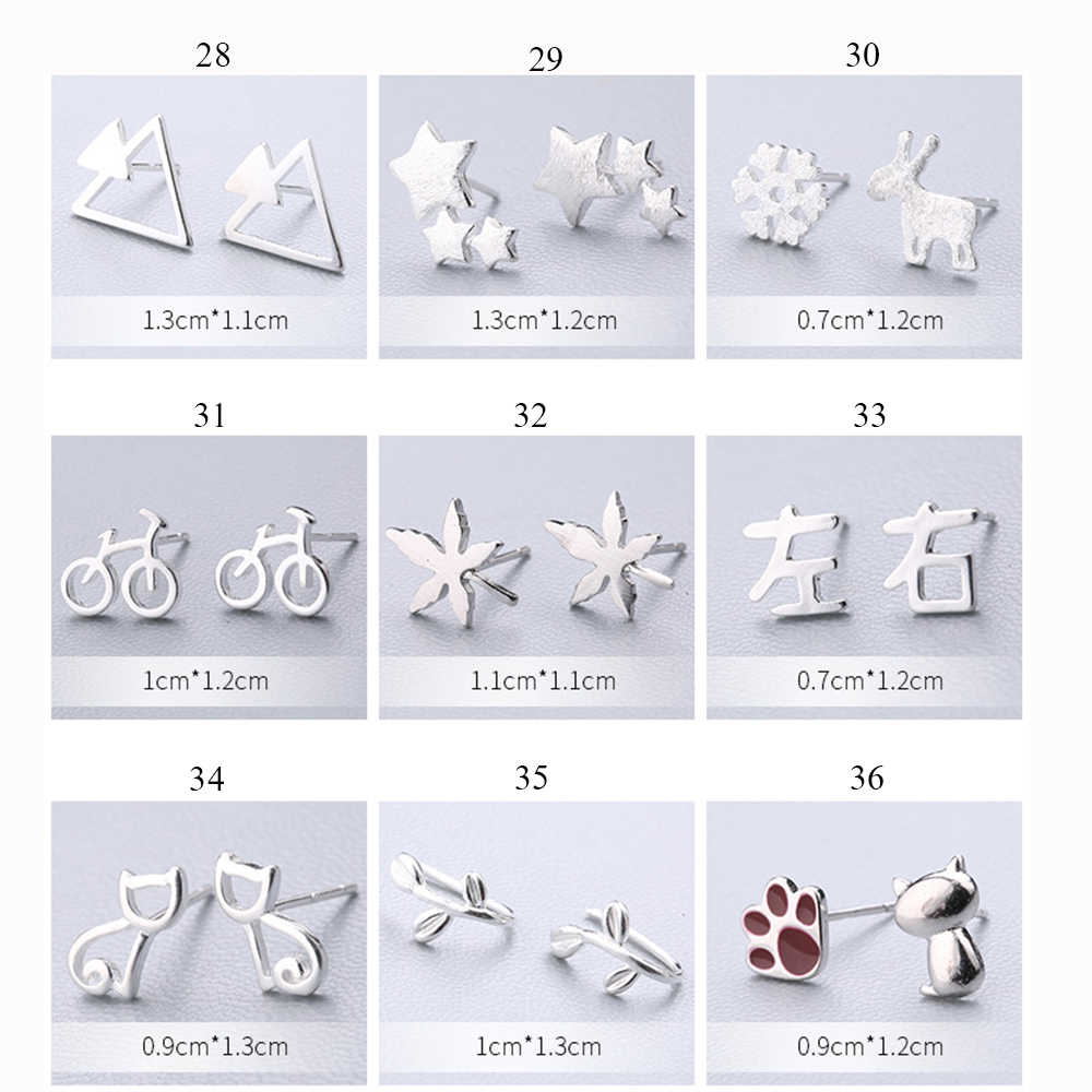 XIYANIKE 925 Sterling Silver Ear Needle Simple Fashion Geometry Stud Earring Personality Refinement Earring Women Jewelry 19-36