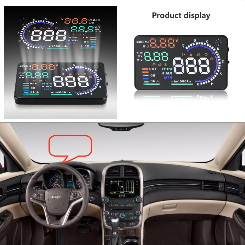 купить For Chevrolet Malibu / Silverado 2015 2016 - Safe Driving Screen Car HUD Head Up Display Projector Refkecting Windshield по цене 3580.07 рублей