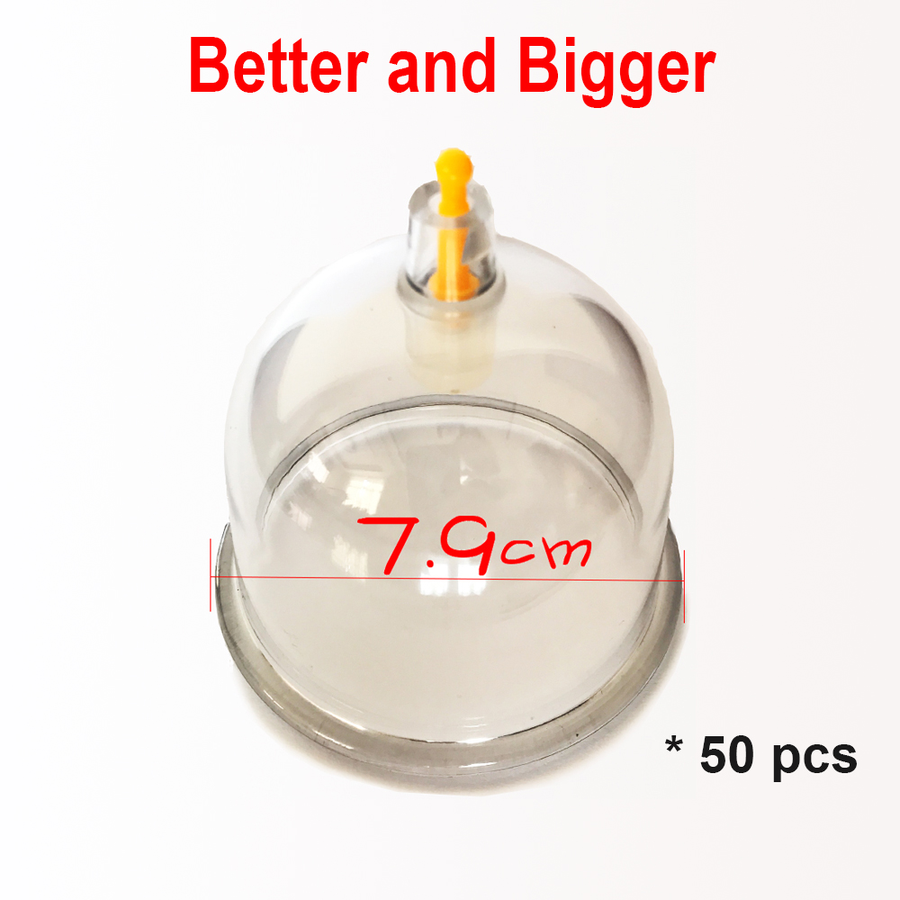 7 9CM Big vacuum cupping cup chinese traditional massage acupuncture hijama banks medical equipment health care