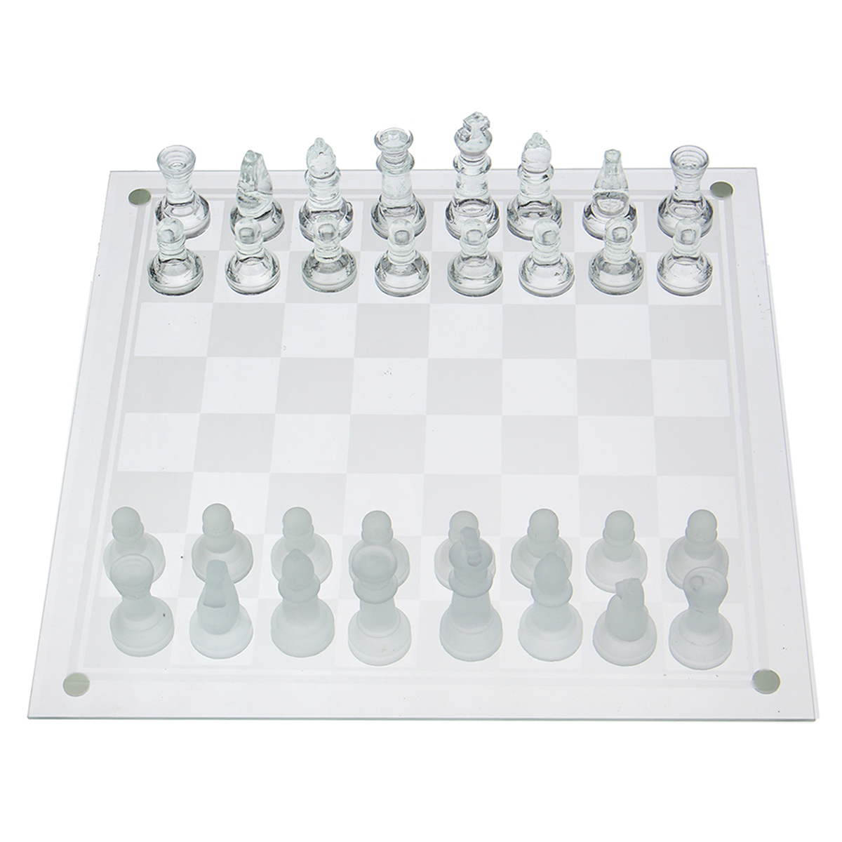 Classic Glass Chess Set Deluxe Checkers Game Strategy Board Frosted Pieces International Word Chess Game Entertainment strategy