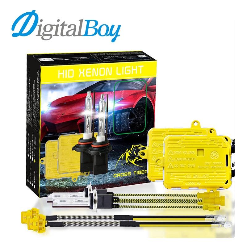 Digitalboy Car HID Fast Start Ballast Block kit AC 55W 6500K H1 H7 H9/H11 Xenon Bulb Headlight 9005 9006 Fog Light H4 Hi/Lo Beam fast star ac 55w h1 h3c h7c h7rc hb3 hb4 car xenon hid headlight bulb