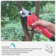Electrc Shears,Electric Pruner for kiwi fruit tree,garden scissors,electric pruning shear for vineyard and orchard