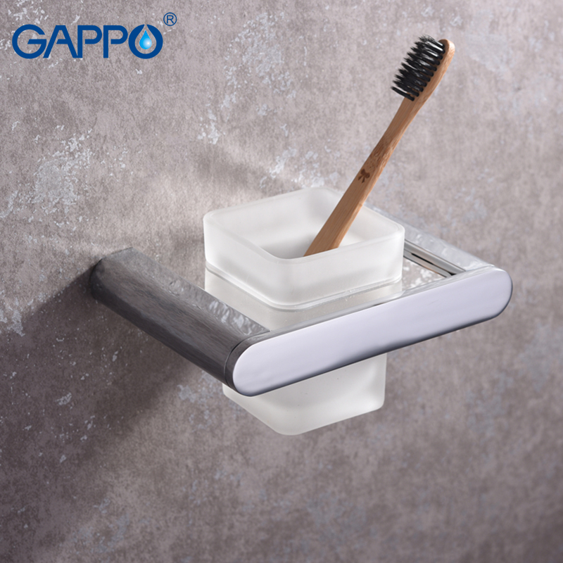 GAPPO Toilet Brush Holders black wall mounted bathroom Brush Holders hangers bath hardware accessories storage аксессуар gappo g8001